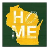 Designs Direct Wisconsin State Pride 16-Inch Square Canvas Wall Art in Yellow