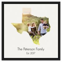 Designs Direct Texas Family 20-Inch Square Framed Canvas Wall Art