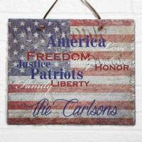 Patriotic Family Horizontal Slate Plaque