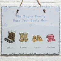 Warm Winter Wishes Horizontal Slate Plaque