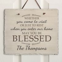 May You Be Blessed Horizontal Slate Sign