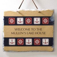 Nautical Welcome Horizontal Slate Sign