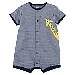 carter's® Size 3M Giraffe Striped Snap-Up Romper in Navy