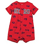 "carter's® Size 6M Snap-Up ""Hero"" Romper in Red"