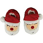 Sleepy Time Size 0-6M Santa Face Slipper in Red