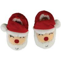 Sleepy Time Size 0-6M Santa Face Slipper in Red