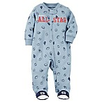 carter's® Size 9M Snap-Up All-Star Sleep & Play Footie in Blue