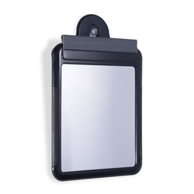 Zu0027Fogless Water Shower Travel Mirror With Carry Bag In Black