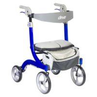 Drive Medical Nitro DLX Euro-Style Rollator Walker in Blue