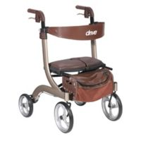 Drive Medical Nitro DLX Euro-Style Rollator Walker in Champagne