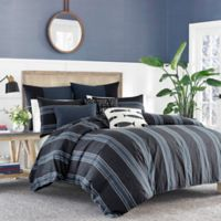 Nautica® Lockridge King Duvet Cover Set in Dark Blue