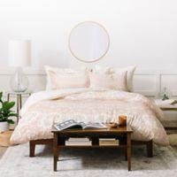 Deny Designs Monika Strigel Waiting For You Queen Duvet Cover Set in Rose