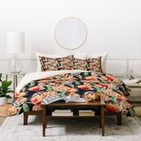 Deny Designs Holli Zollinger Bohemian Butterfly Queen Duvet Cover Set in Red