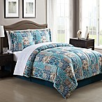Painted Patchwork 8-Piece King Comforter Set
