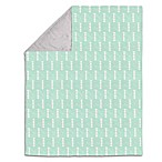 The Peanut Shell® Arrows Velour Blanket in Mint