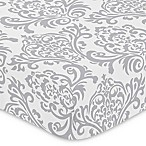 Sweet Jojo Designs Elizabeth Fitted Crib Sheet in Grey/White
