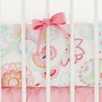 My Baby Sam Paisley Fitted Crib Sheet in Coral