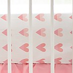 My Baby Sam Sweethearts Fitted Crib Sheet in Coral