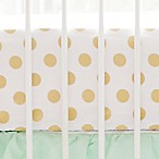 My Baby Sam Polka Dot Fitted Crib Sheet in Gold