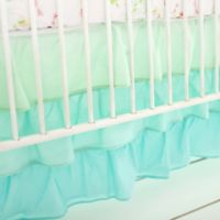My Baby Sam Ruffled 3-Tier Crib Skirt in Mint