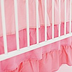 My Baby Sam Ruffled 3-Tier Crib Skirt in Coral