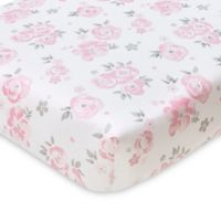 Wendy Bellissimo™ Mix & Match Savannah Watercolor Floral Fitted Crib Sheet in Pink