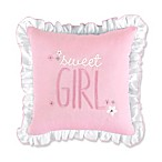 Wendy Bellissimo™ Mix & Match Savannah Sweet Girl Square Throw Pillow in Pink/White