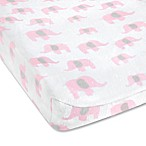 Wendy Bellissimo™ Mix & Match Savannah Elephant Changing Pad Cover in White/Pink