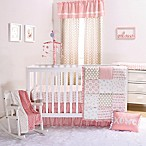 The Peanut Shell® Sweet Swan 4-Piece Crib Bedding Set in Light Coral