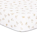 The Peanut Shell® Butterfly Fitted Crib Sheet in White/Gold
