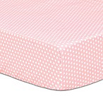 The Peanut Shell® Dot Fitted Crib Sheet in Light Coral