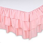The Peanut Shell® Sweet Swan Ruffled Crib Skirt in Light Coral