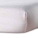 Oilo Studio™ Zig Zag Jersey Fitted Crib Sheet in Blush