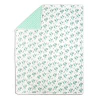 The Peanut Shell™ Cactus Minky Blanket in Mint