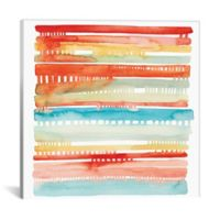 iCanvas Connected Lines I 37-Inch Square Canvas Wall Art