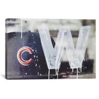 iCanvas Cubs Win 18-Inch x 26-Inch Canvas Wall Art