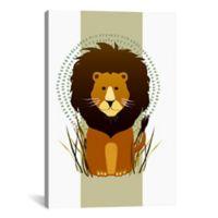 iCanvas Lion 12-Inch x 18-Inch Canvas Wall Art