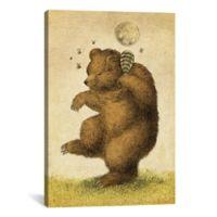 iCanvas Honey Bear 12-Inch x 18-Inch Canvas Wall Art