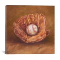 iCanvas Rustic Sports III 12-Inch Square Canvas Wall Art