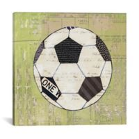 iCanvas Play Ball lll 18-Inch Square Canvas Wall Art