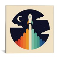 iCanvas Up Rocket 26-Inch Square Canvas Wall Art
