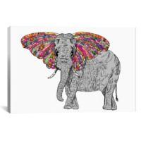 iCanvas Bella the Happy Butterphant 26-Inch x 40-Inch Canvas Wall Art