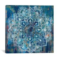 iCanvas Mandala II 18-Inch Square Canvas Wall Art in Blue