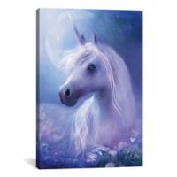 iCanvas Unicorn Moon 12-Inch x 18-Inch Canvas Wall Art