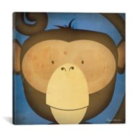 iCanvas Monkey Wow 12-Inch Square Canvas Wall Art