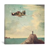 iCanvas Kite Day 37-Inch Square Canvas Wall Art