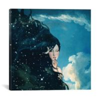 iCanvas Lady Knight 18-Inch Square Canvas Wall Art