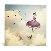 iCanvas Rain Lady 37-Inch Square Canvas Wall Art
