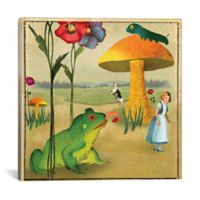 iCanvas Wonderland 18-Inch Square Canvas Wall Art