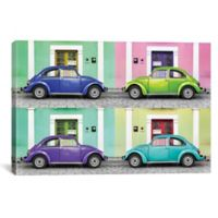 iCanvas 4 VW Beetle Cars I 12-Inch x 18-Inch Canvas Wall Art